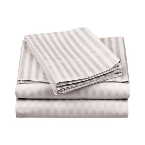 Miranda Haus Jeananne Egyptian Cotton Stripe Deep Pocket Sheet Set