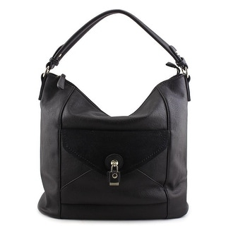 MG Collection Linnea Slouchy Synthetic Hobo - Black