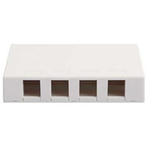Ic107Sb4Wh Surface Box, 4 Port White