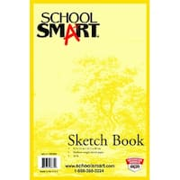 School Smart Wirebound Sketch Book, 8-1/2 x 11 Inches