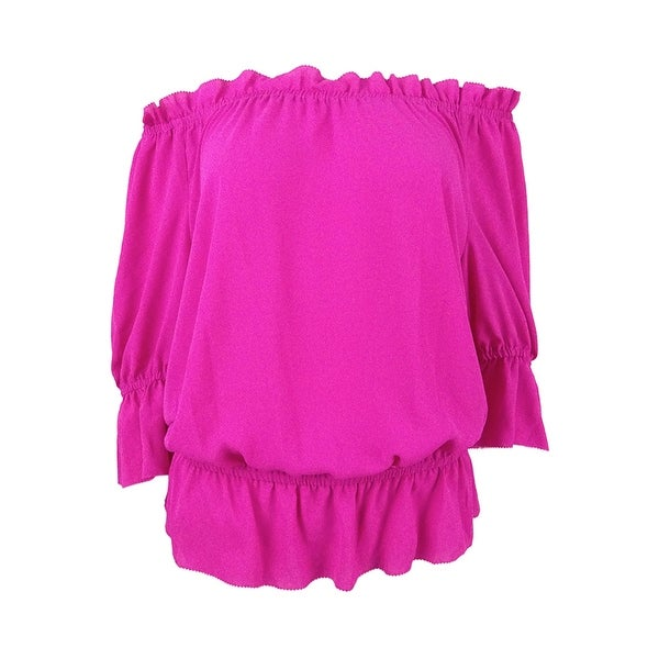 02a2acc611e Shop Lauren Ralph Lauren Women's Petite Ruffled Off-The-Shoulder Top - Pink  - On Sale - Free Shipping On Orders Over $45 - Overstock - 23601091