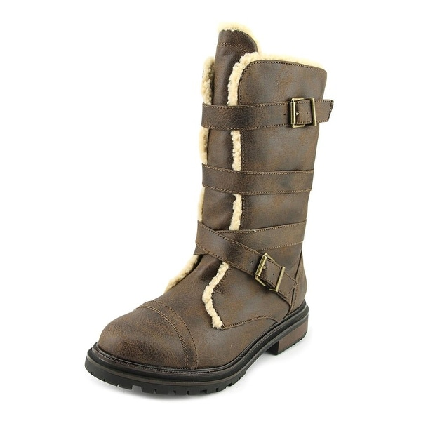 Rocket Dog Lance Women Synthetic Brown Motorcycle Boot