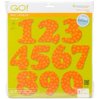 """Go! Fabric Cutting Dies-Carefree Numbers 3"""""""