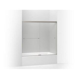 """Kohler K-707000-L Revel Frameless Sliding 55-1/2"""" x 59-5/8"""" Shower Door with 1/4"""" Clear Glass, Reversible Opening, and CleanCoat"""