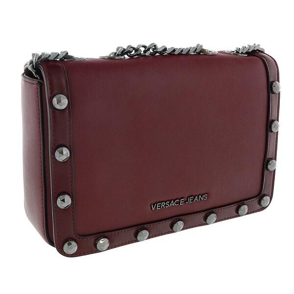 Shop Versace EE1VSBBC3 E331 Oxblood Shoulder Bag - Free Shipping ... 6f11d7ba4f2ce