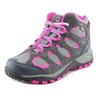 Merrell Hilltop Ventilator Mid Men Round Toe Leather Hiking Shoe