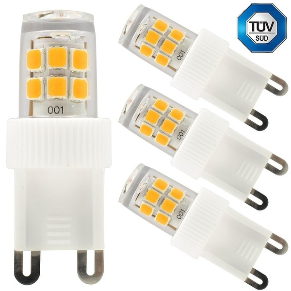 3-Pack 110V 2.5W G9 LED Bulb, 30W Equivalent 2700K Warm White LED G9 Light Bulb