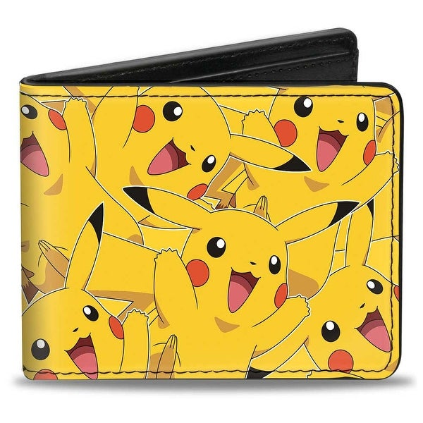 Pikachu Stacked Bi Fold Wallet - One Size Fits most
