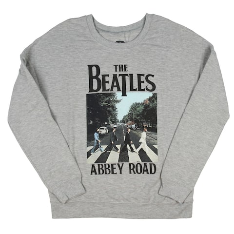 The Beatles Juniors Abbey Road Crosswalk Color Photo Pullover Sweatshirt