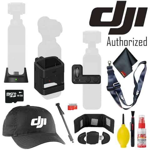 DJI Osmo Pocket Expansion Kit - Branded Merch - 64GB Micro SD - Monopod and More