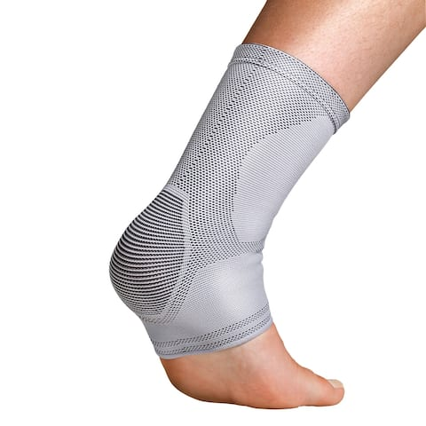 Orthozone Thermoskin Dynamic Compression Ankle Sleeve - Breathable Ankle Support - Gray