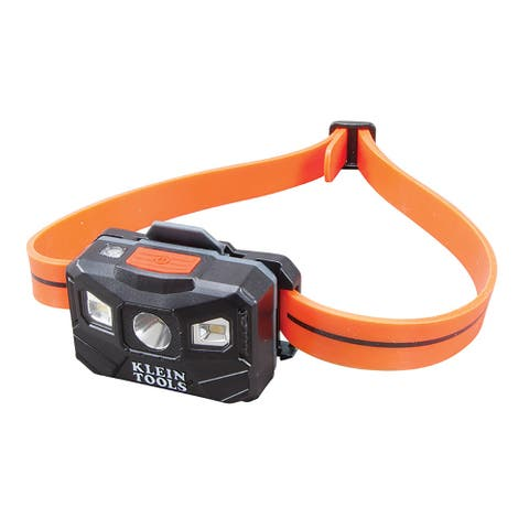 Klein tools rechargeable slim headlamp w/usb black w/orange
