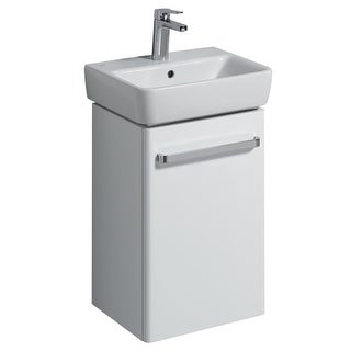Bissonnet 862045-276145 Comprimo 15-3/4? Free Standing or Wall-Mount Vanity Set with MDF Cabinet and Integrated Single Basin