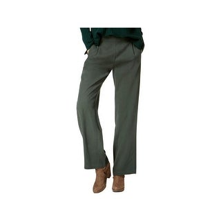 Eileen Fisher Womens Straight Leg Pants Tencel Pleated