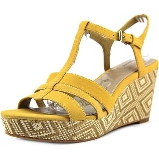 Giani Bernini Sadiee Women Open Toe Synthetic Yellow Wedge Sandal