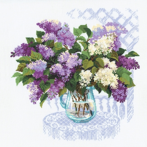 """The Smell Of Spring Counted Cross Stitch Kit-17.75""""X17.75"""" 16 Count"""