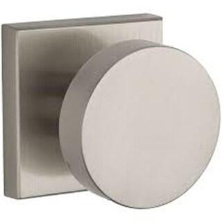 6AL Privacy Door Knob with Modern Contemporary Square, Satin