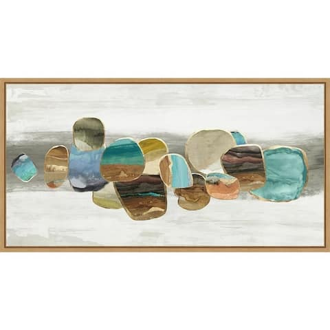 Glided Stones I by Tom Reeves Framed Canvas Art