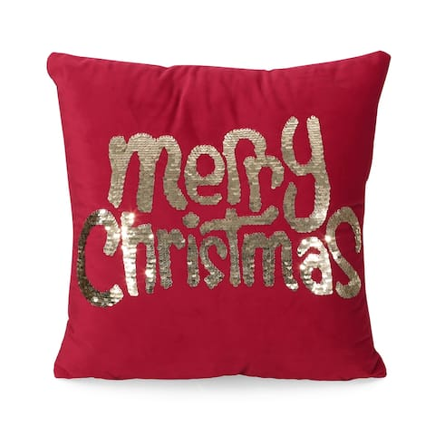 Tigue Glam Velvet Christmas Throw Pillow by Christopher Knight Home