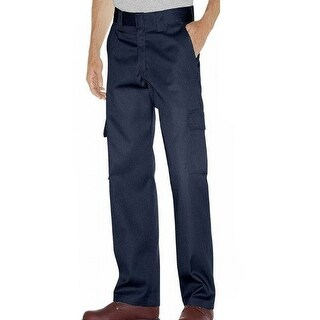 Propper NEW Blue Mens Large L Button-Front Straight-Leg Casual Pants