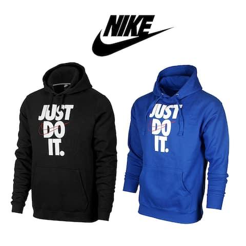 Nike Men's Hoodie Sportswear Just do it Swoosh Graphic Logo Pullover