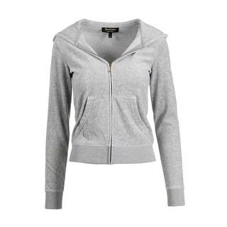Juicy Couture Black Label Womens Velour Glitter Original Jacket - XS