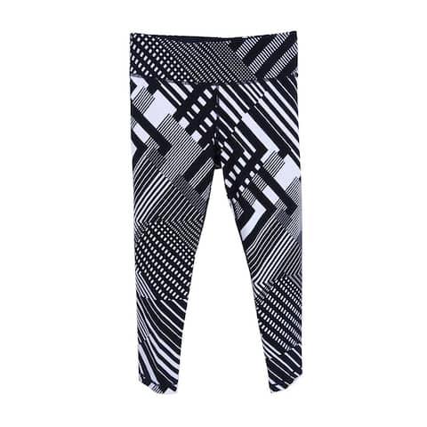 Tommy Hilfiger Women's Sport Printed Leggings (XS, Black) - Black - XS