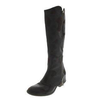 Donald J Pliner Womens Devi Distressed Knee-High Boots