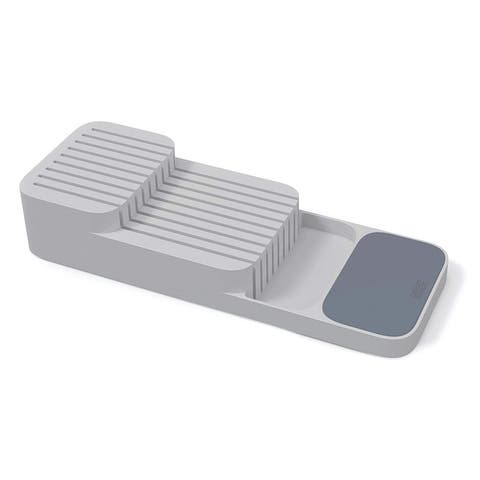 Joseph Joseph 10511 Drawerstore Set Kitchen Drawer Organizer Tray for Cutlery and Knives, 2-piece, Gray - grey