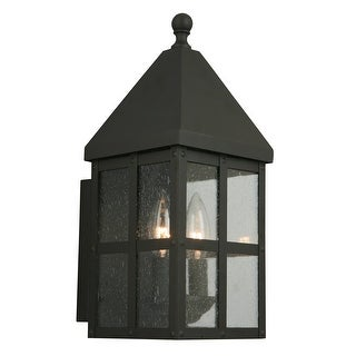 Link to Eglo Creston Creek 14.50-Inch Outdoor Wall Light with Matte Black Finish and Clear Seeded Glass Similar Items in Outdoor Ceiling Lights