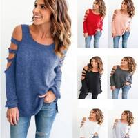 Scoop Neck Long Sleeved Cotton Top