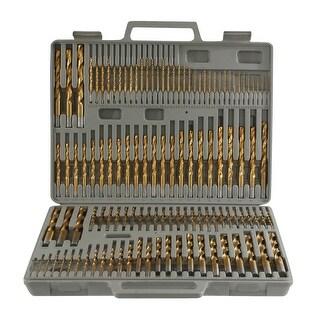 Offex 115 Piece Titanium Drill Bit Set - Silver
