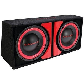 Crunch CR212A CR-212A Powered Dual Subwoofer System, Gray - 12 in.