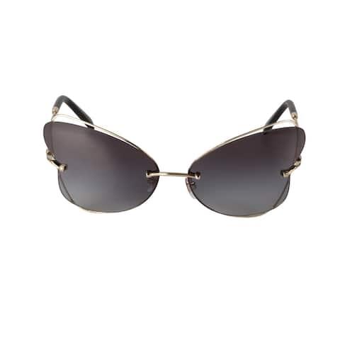 Valentino VA2031 30038G 64 Rimless Butterfly Sunglasses