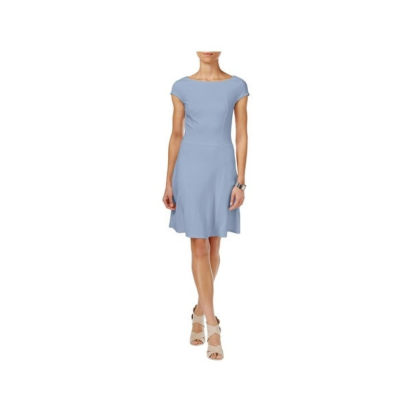 f3afb91e95ec09 Shop Armani Exchange Womens Special Occasion Dress Cap Sleeve Fit   Flare -  Free Shipping Today - Overstock - 22750995