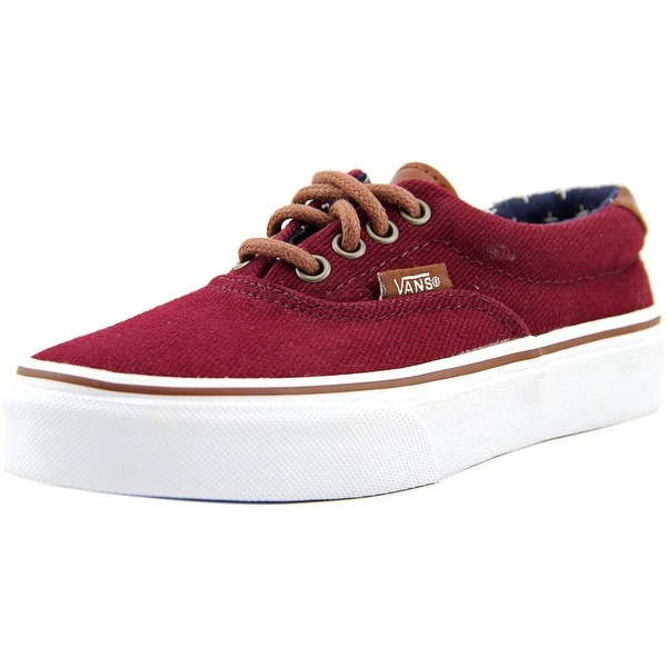 Shop Vans Era 59 Youth Round Toe Canvas Burgundy Skate Shoe - Free ... 30163dc34