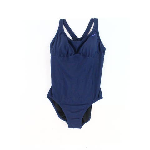 Nike Navy Blue Womens Size Medium M Racerback One-Piece Swimwear