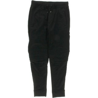 Ralph Lauren Black Label Mens Drawstring Stretch-Rib Pants - L