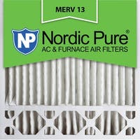 Nordic Pure20x20x5 Honeywell Replacement Pleated MERV 13 Air Filters Qty 2