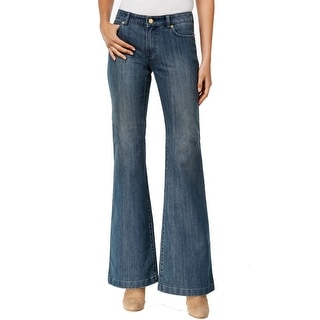 Michael Kors NEW washed Blue Jeans Denim Women's Size 2 Flare Leg