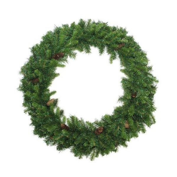 6' Dakota Red Pine Commercial Artificial Christmas Wreath with Pine Cones - Unlit