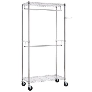 Link to Closet Organizer Garment Rack Clothes Hanger Home Shelf Similar Items in Laundry