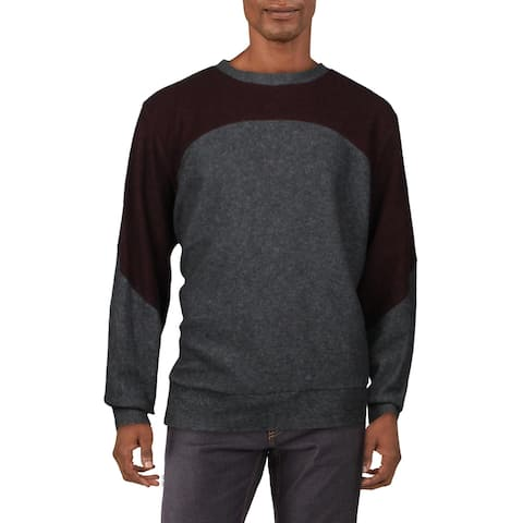 Twenty Mens Sweatshirt Fleece Comfy - Charcoal/Maroon