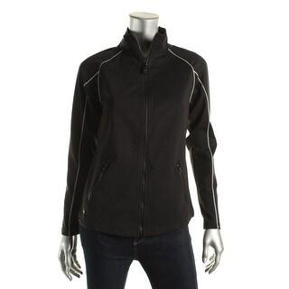 Lauren Active Womens Reflective Mock Neck Athletic Jacket - M