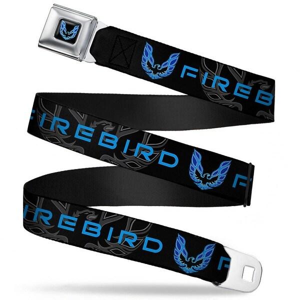 Pontiac Firebird Logo Full Color Black Blues Pontiac Firebird Logo Black Seatbelt Belt