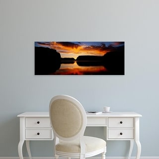 Easy Art Prints Panoramic Images's 'Silhouette of rocks at dusk, Lake Powell, Utah, USA' Premium Canvas Art