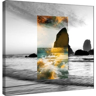 "PTM Images 9-100536  PTM Canvas Collection 12"" x 12"" - ""Celestial Landscape 6"" Giclee Beaches Art Print on Canvas"
