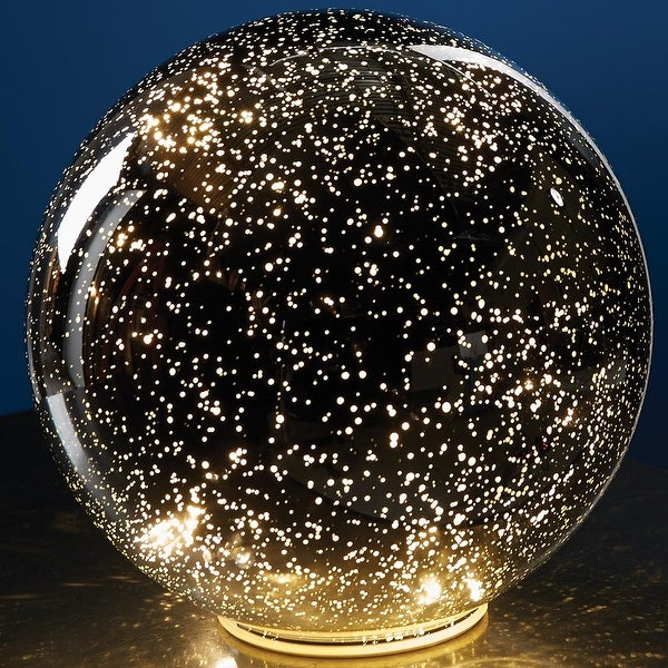 Shop Large Lighted Mercury Glass Sphere Gazing Ball