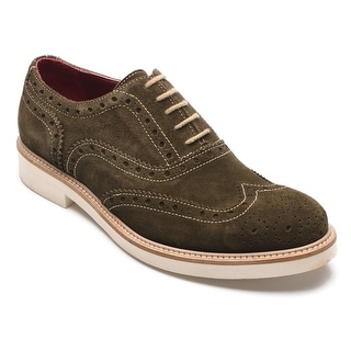 Alexander Men's Jargo Suede Leather Brogue Oxfords Shoes Bosco