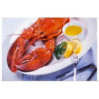 """Lobster dinner plate"" Poster Print"